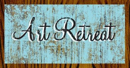 Art retreat sign