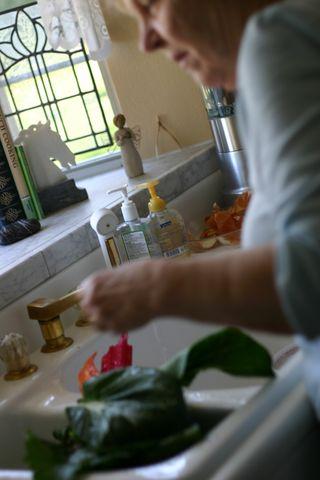 Joan preparing