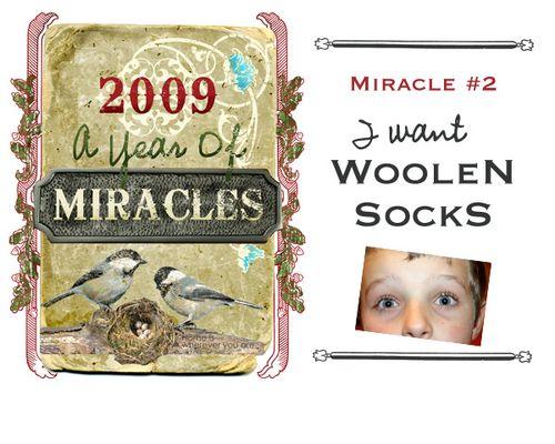 2 woolen socks