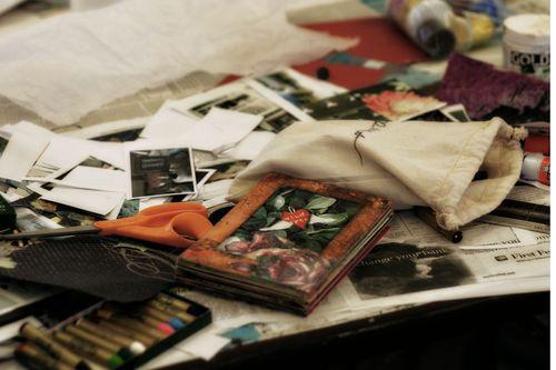 Art journal mess