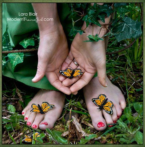 Me holding butterflies