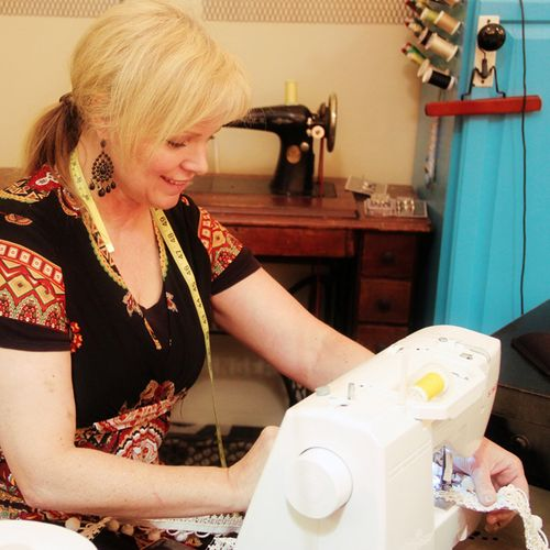 Kathy sewing