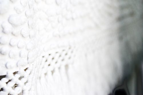 Blog white chenille