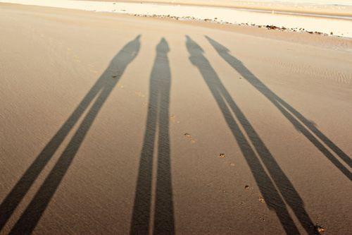 -shadows on the beach