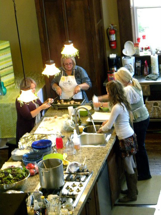 Margie in kitchen