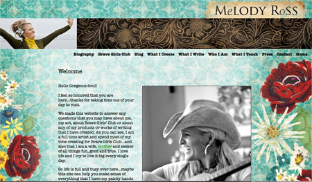 Melody's new website