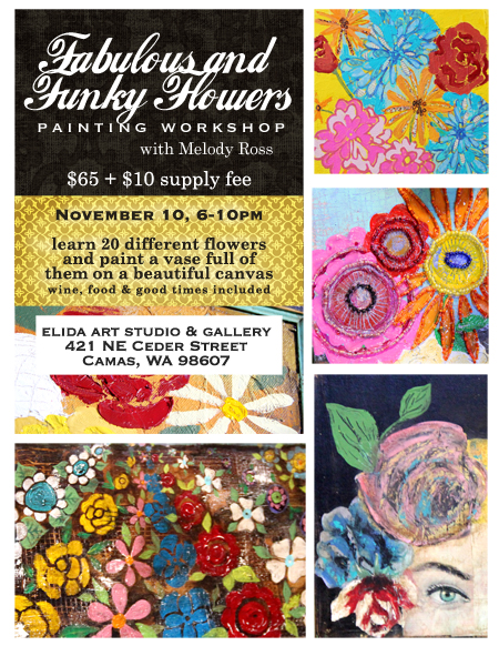 Funky flower for MY blog