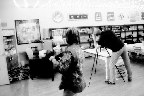 Jo directing photo shoot