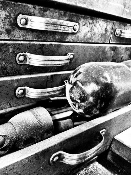9 drawers bw